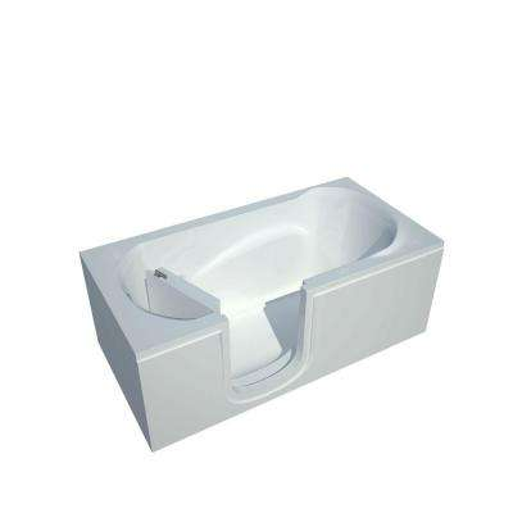 5 ft. Left Drain Walk-In Bathtub in White
