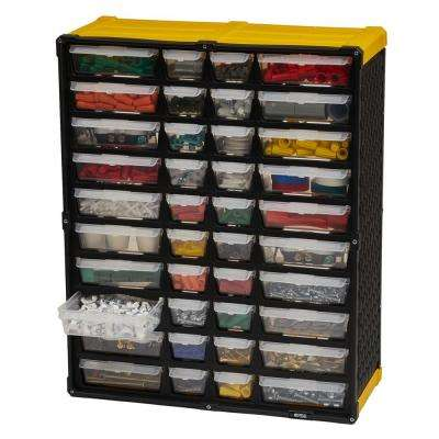 40-Compartment Small Parts Organizer, Yellow