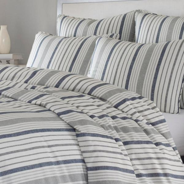 Stone Cottage Conrad 3 Piece Gray And, Slate Blue And Gray Bedding