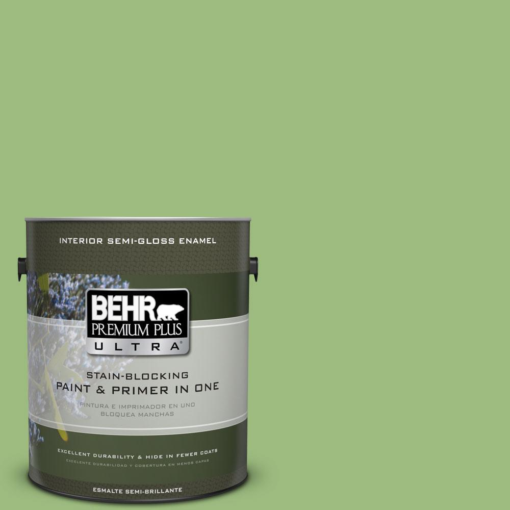 BEHR Premium Plus Ultra 1-gal. #P380-5 Gleeful Semi-Gloss Enamel Interior Paint