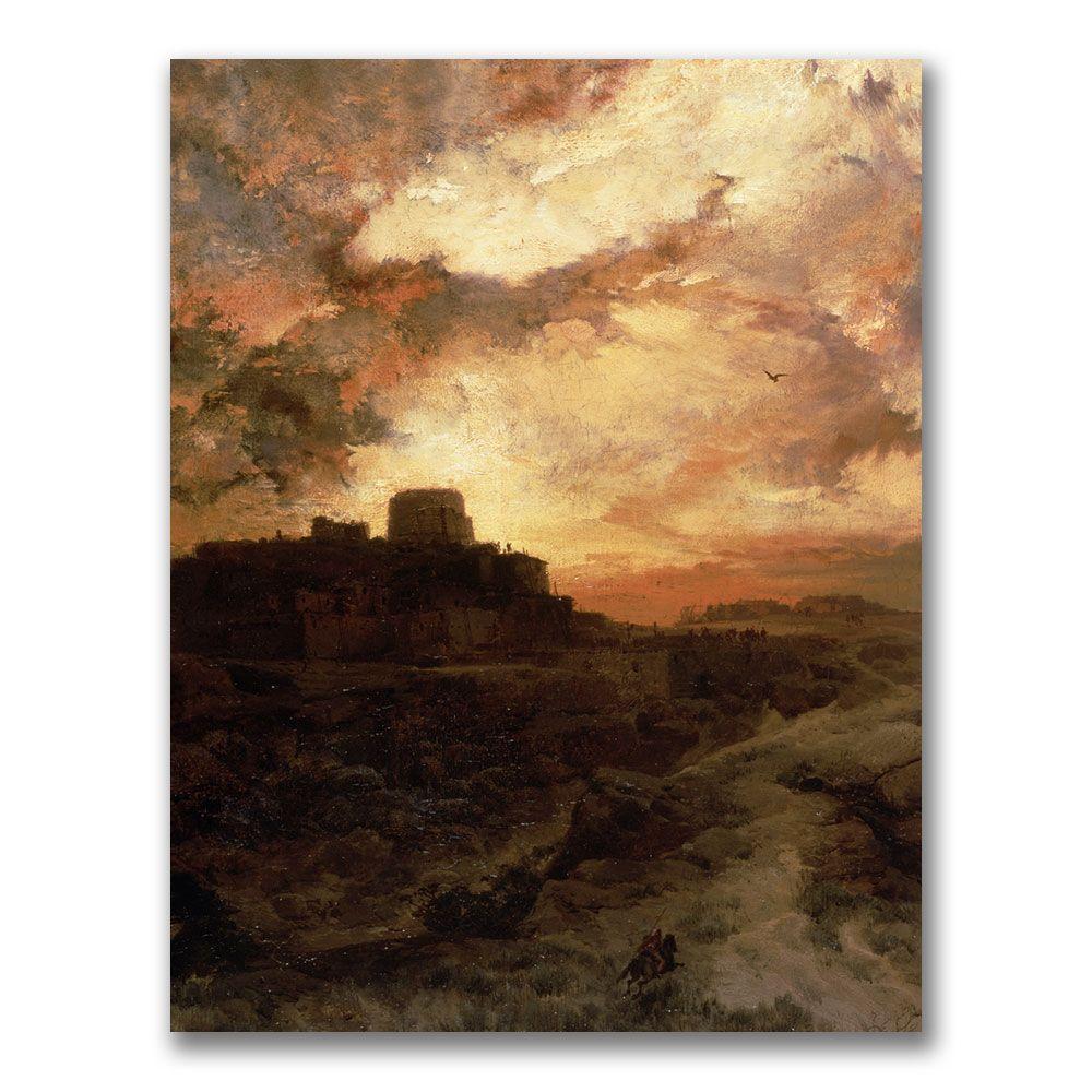 24 in. x 32 in. Sunset, Pueblo del Walpe, Arizona Canvas