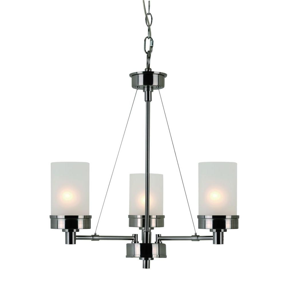 Hampton Bay 3 Light Brushed Nickel Chandelier