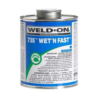 32 oz. Wet N Fast PVC 735 Cement in Blue