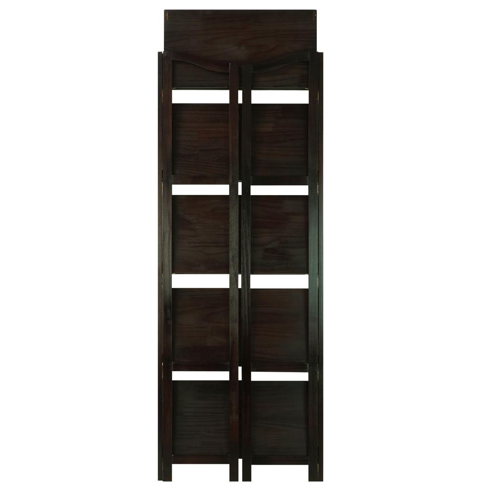 Casual home stratford espresso 5 shelf folding bookcase Folding bookshelf