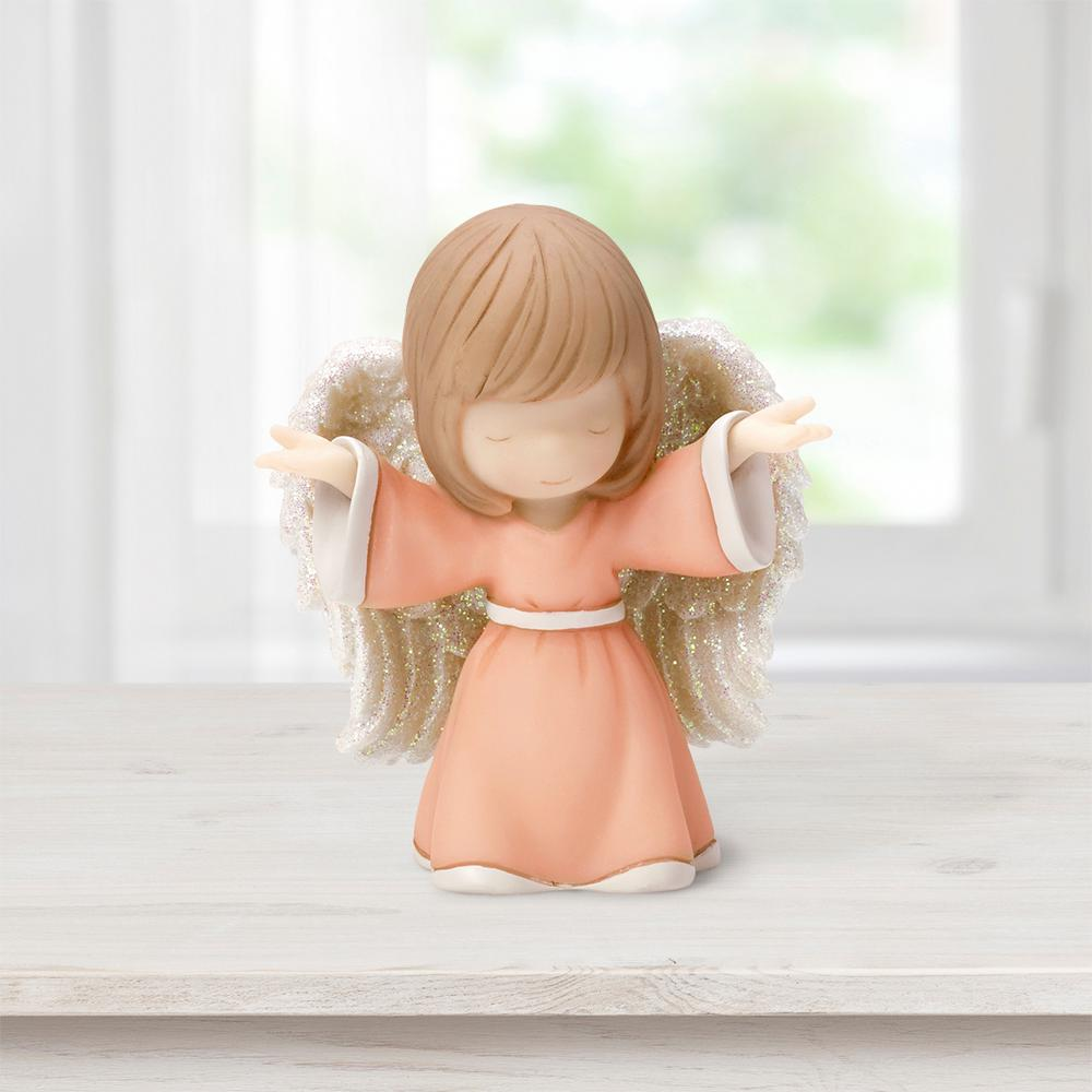 Precious Moments Tabletop Resin Open Arms Angel Mini Figurine, Multi With eyes closed and arms outstretched toward the skies above this darling angel welcomes all the prayers of the faithful. A reminder to someone special that heaven is always on their side and is only a simple prayer away. Give this Precious Moments figurine as a thoughtful gift for any religious occasion, like baptism gifts, Communion gifts, confirmation gifts or simply 'just because.' Crafted of resin and carefully hand painted. Approximately 2.75 in. H. Color: Multi.