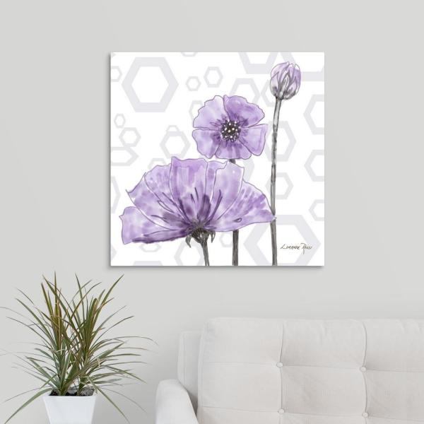 """GreatBigCanvas """"Poppy Arch Square I"""" by Lorraine Rossi Canvas Wall Art"""