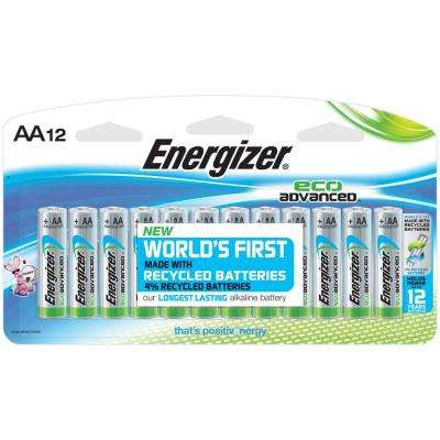 Eco-Advanced Performance Alkaline AA Battery (12-Pack)