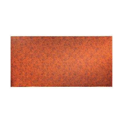 96 in. x 48 in. Hammered Decorative Wall Panel in Moonstone Copper