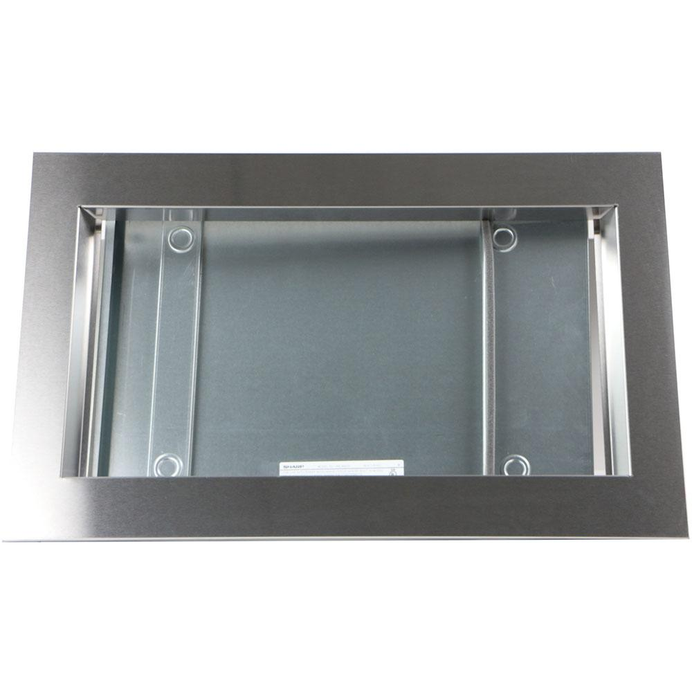 Sharp 27 in. Trim Kit for SMC1842CS and SMC1843CM Microwave Ovens in Stainless Steel, Silver When building in a Sharp countertop microwave oven, be sure to use the proper Sharp built-in kit. All Sharp kits are UL approved and provide duct work to assure proper air circulation around the product. The Sharp RK-49S27 27 in. trim kit is compatible with the Sharp SMC1842CS and SMC1843CM microwave ovens. It will provide ventilation as required and delivers a clean look that integrates the microwave into the wall or cabinet. Color: Stainless Steel.