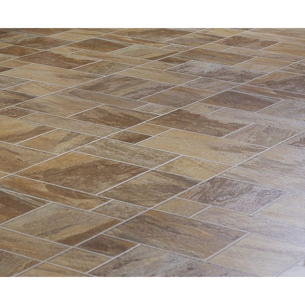 null Amber Random Slate Laminate Flooring - 5 in. x 7 in. Take Home Sample-DISCONTINUED