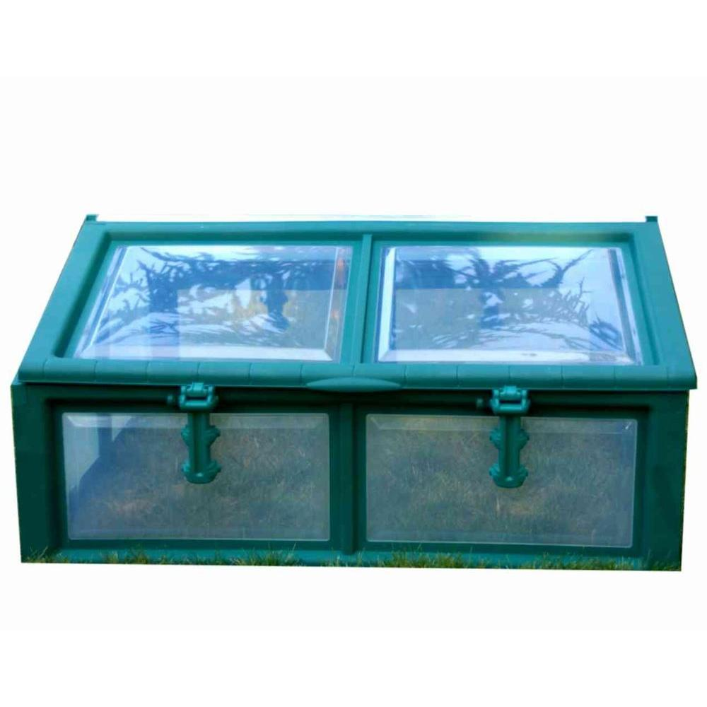 Riverstone 3 ft. x 4 ft. Genesis Quick Assembly Green Cold Frame