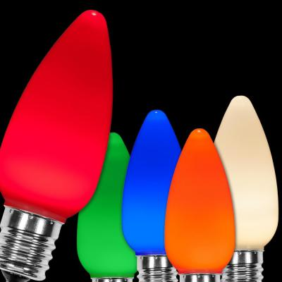 OptiCore C9 LED Multi-Color Smooth/Opaque Christmas Light Bulbs (25-Pack)