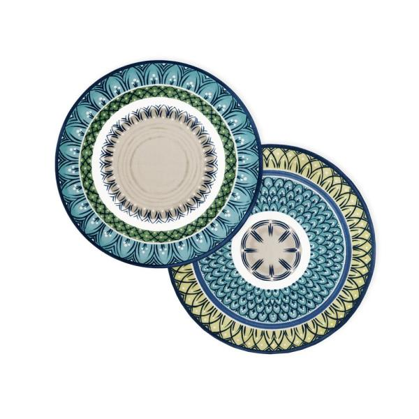 Villeroy & Boch Casale Blu 15 in. Round Multi-Color-Color Print Placemats