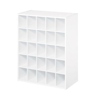 24 in. W x 32 in. H White Stackable 25-Cube Organizer