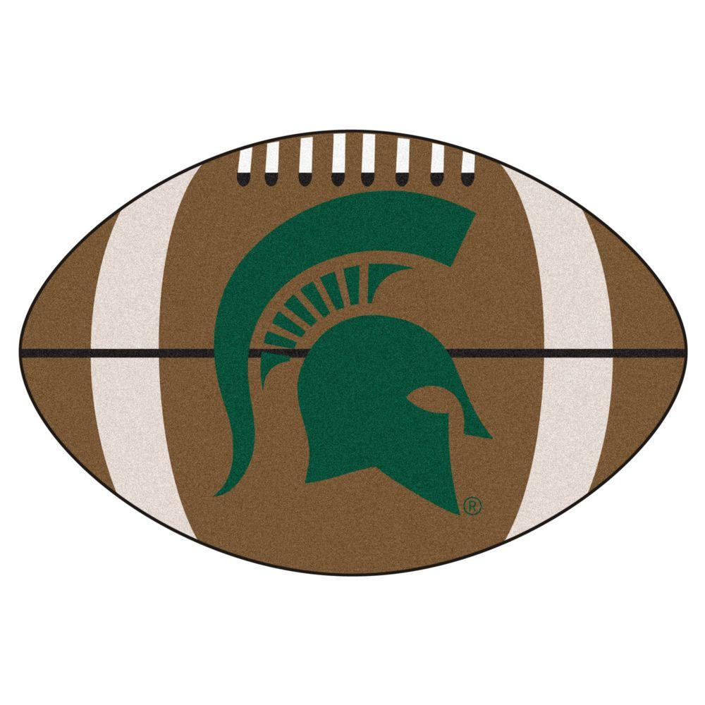 Fanmats Ncaa Michigan State University Brown 1 Ft 10 In