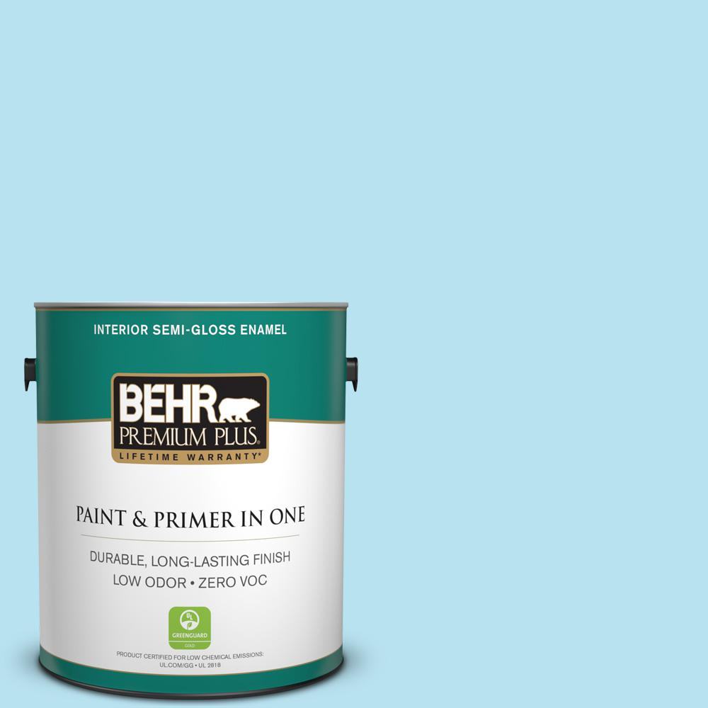 1-gal. #P490-1 Ocean Front Semi-Gloss Enamel Interior Paint