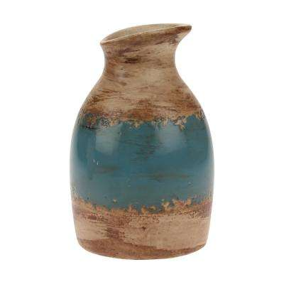 6 in. Ceramic Vase in Denim Weathered