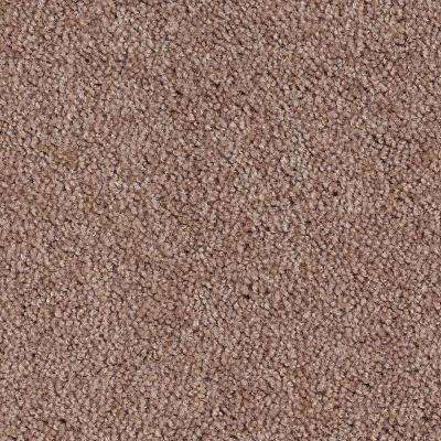 Carpet Sample - Hypersonic-Color Brown Wicker Textured 8 in. x 8 in.