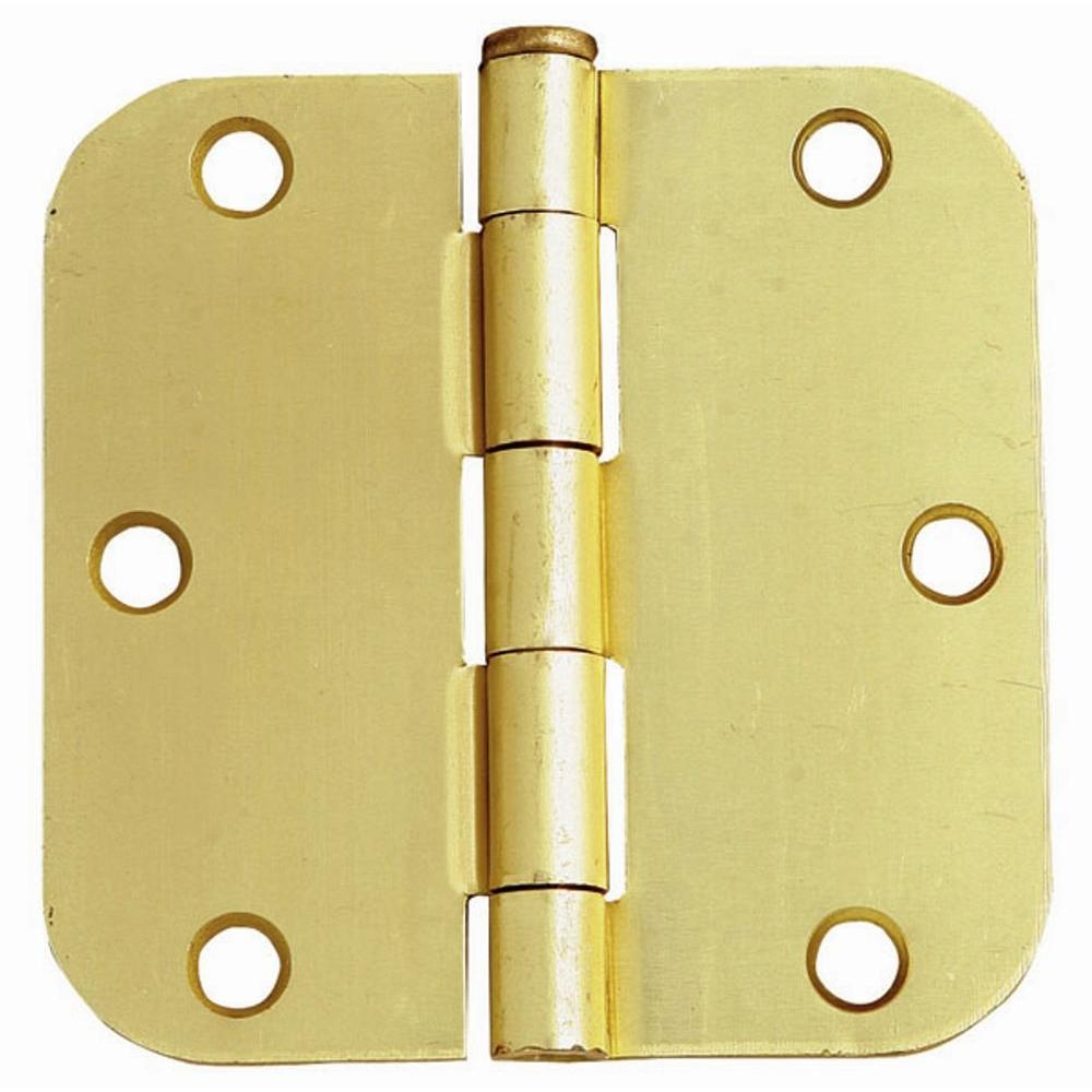 3-1/2 in. x 3-1/2 in. - 5/8 in. Radius Satin Brass