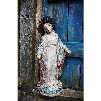 Chateau 27.5 in. Resin Virgin Mary Statue