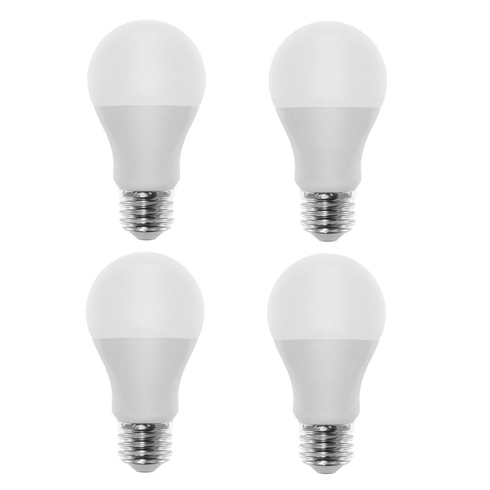 60-Watt Equivalent A19 LED Light Bulb Warm White (4-Pack)