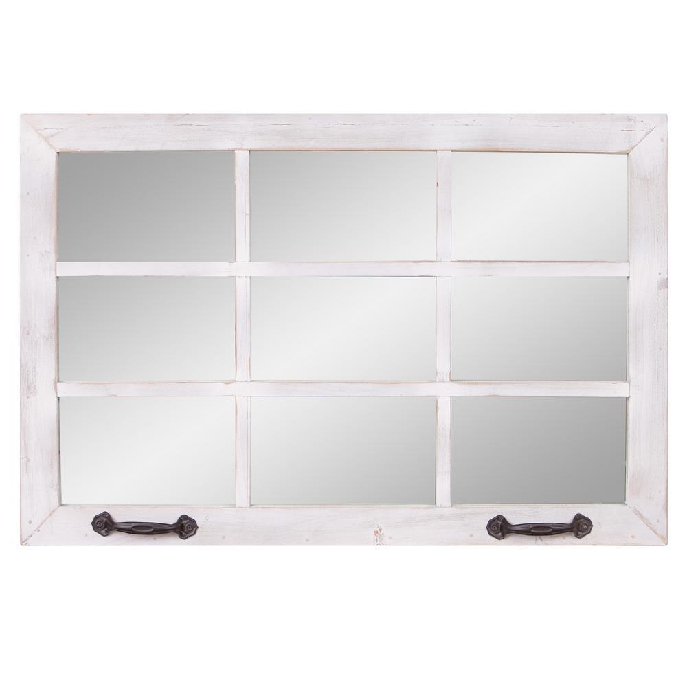 Medium Rectangle White Mirror (24 in. H x 36 in. W)