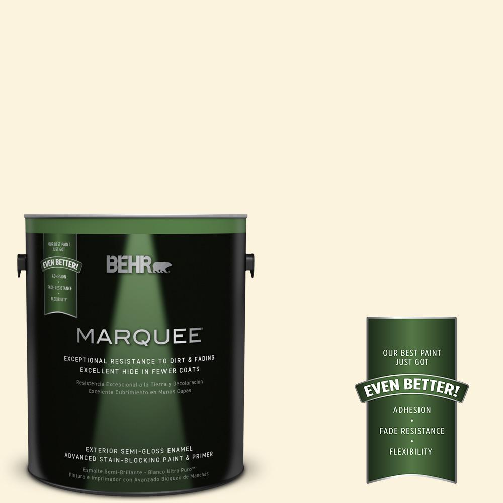 BEHR MARQUEE 1-gal. #P260-1 Glass of Milk Semi-Gloss Enamel Exterior Paint