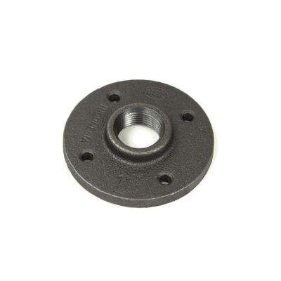 3/4 in. Black Malleable Iron FPT Floor Flange (10-Pack)