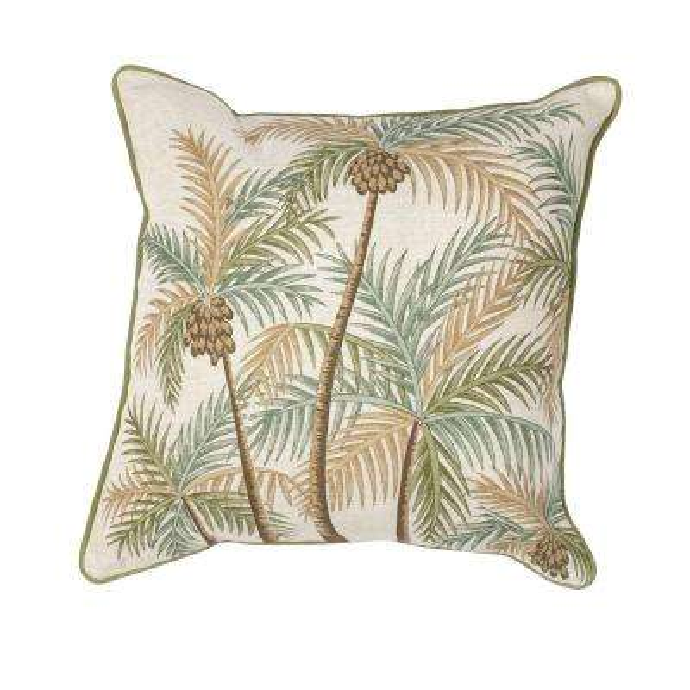 Palm Tree Natural/Green Decorative Pillow