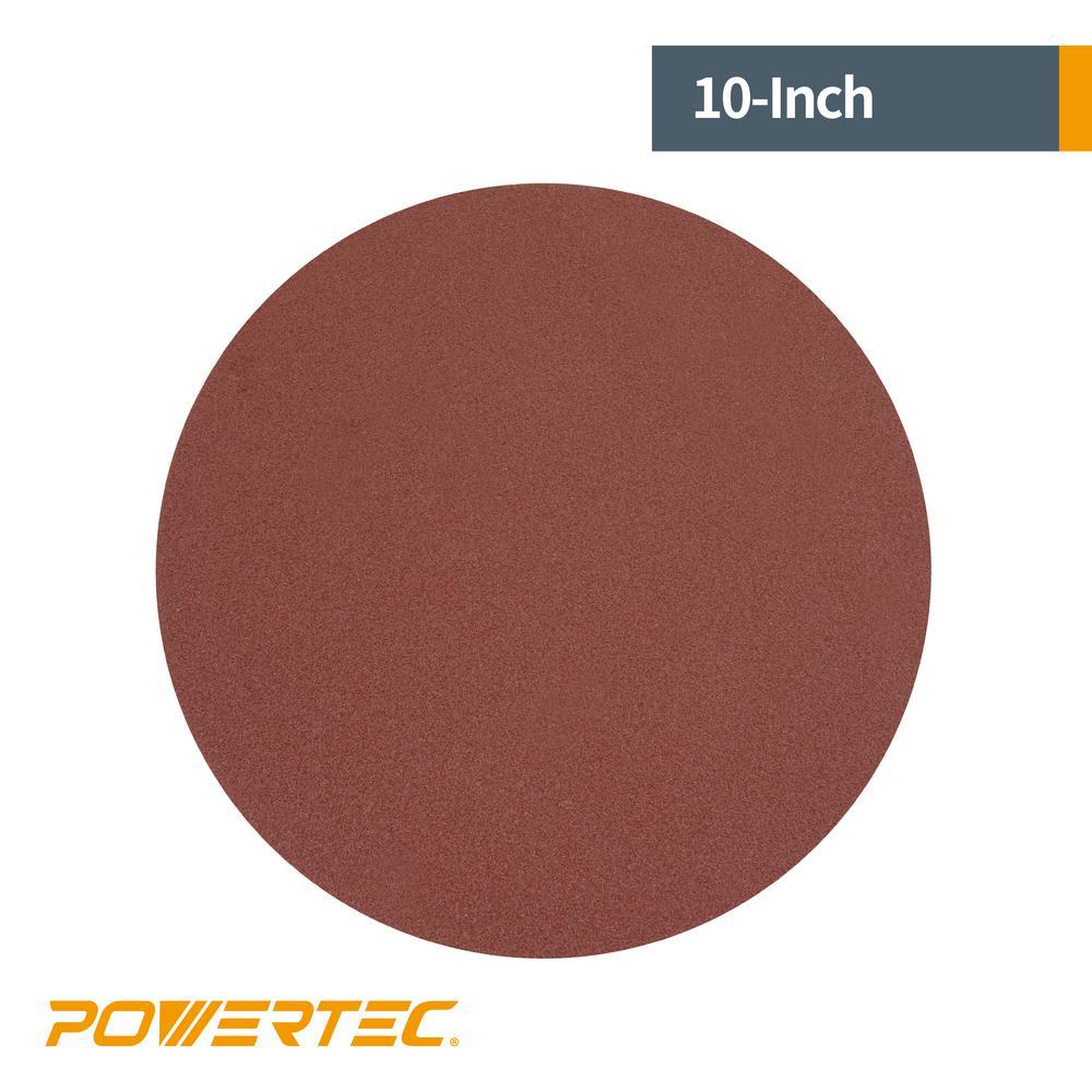 10 Inch 36 Grit Adhesive Back Aluminum Oxide metal Sanding Discs 5 Pack