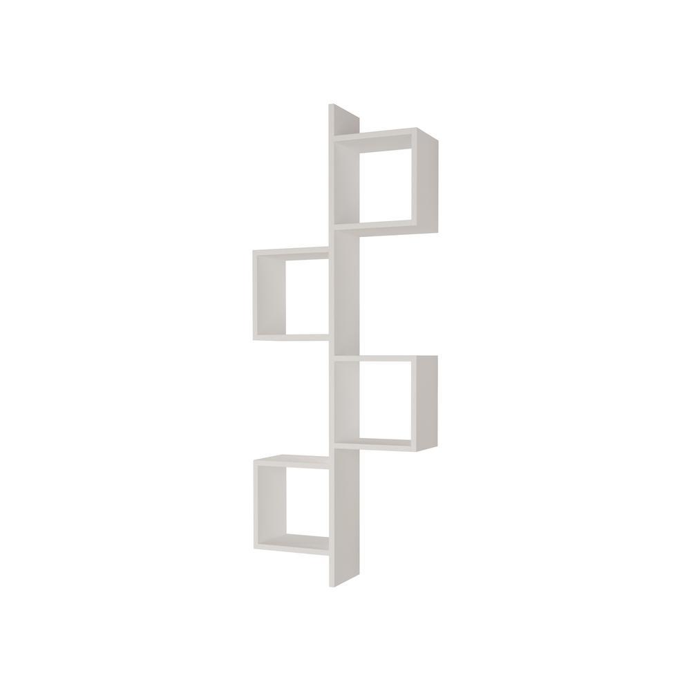 Ada Home Decor Wayman White Modern Wall Shelf DCRW2261
