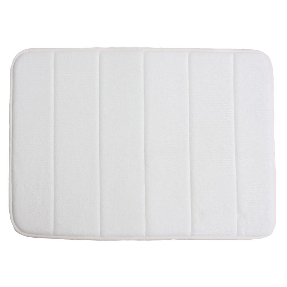 White Memory Foam Bath Mat