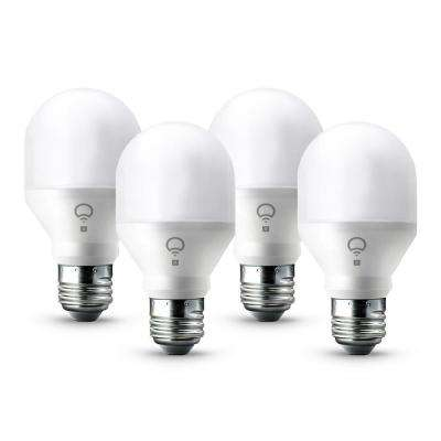 60W Equivalent Mini Day and Dusk A19 Dimmable Wi-Fi Smart Connected LED Light Bulb (4-Pack)