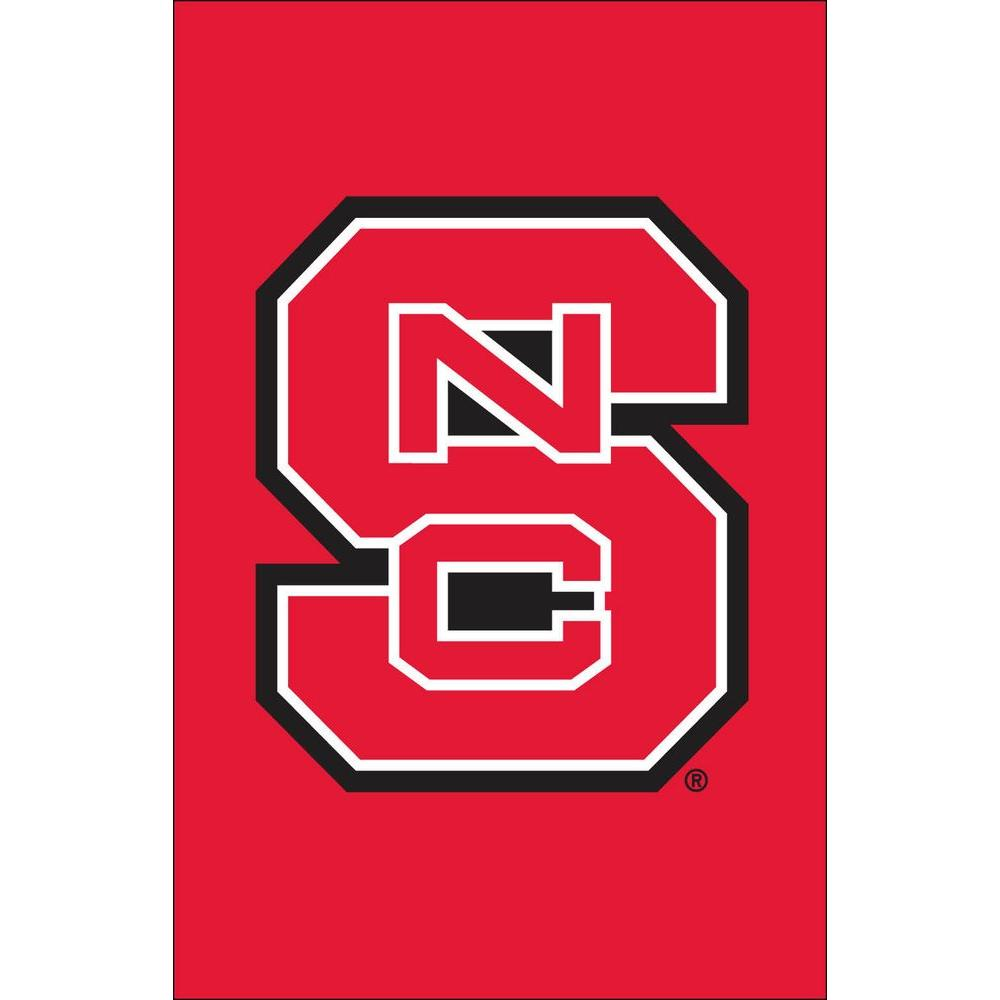 Evergreen Enterprises NCAA 12-1/2 in. x 18 in. NC State 2-Sided Garden Flag