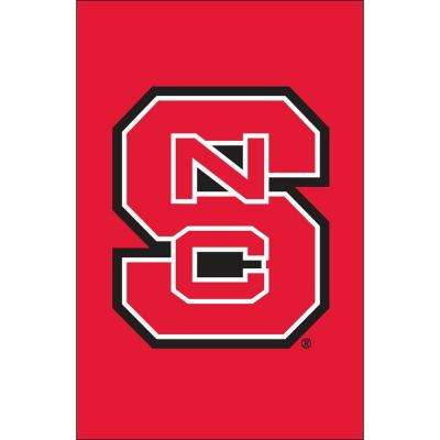 NCAA 12-1/2 in. x 18 in. NC State 2-Sided Garden Flag