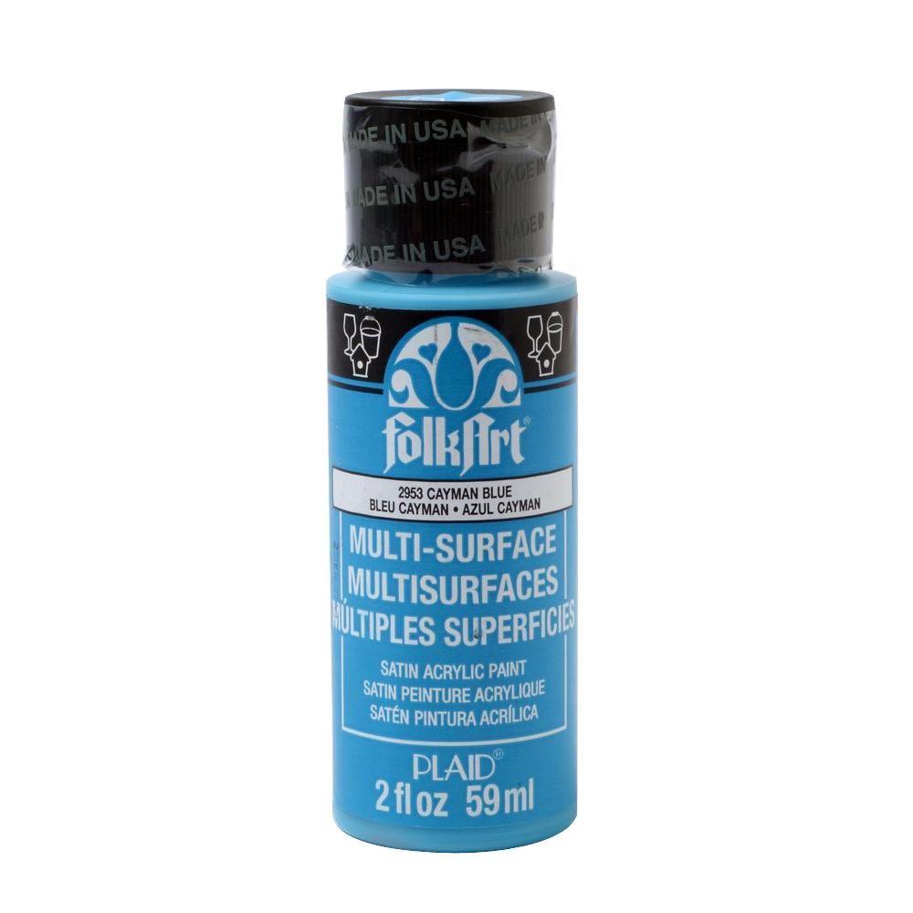 Folkart 2 Oz Cayman Blue Multi Surface Paint 2953 The