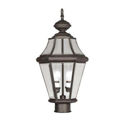 Providence 2-Light Outdoor Bronze Incandescent Post Lantern