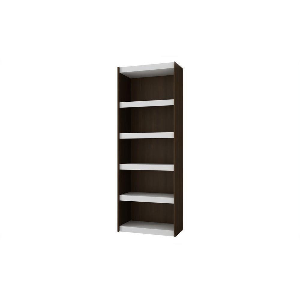 Manhattan Comfort Parana 3.0 White & Tobacco Open Bookcase