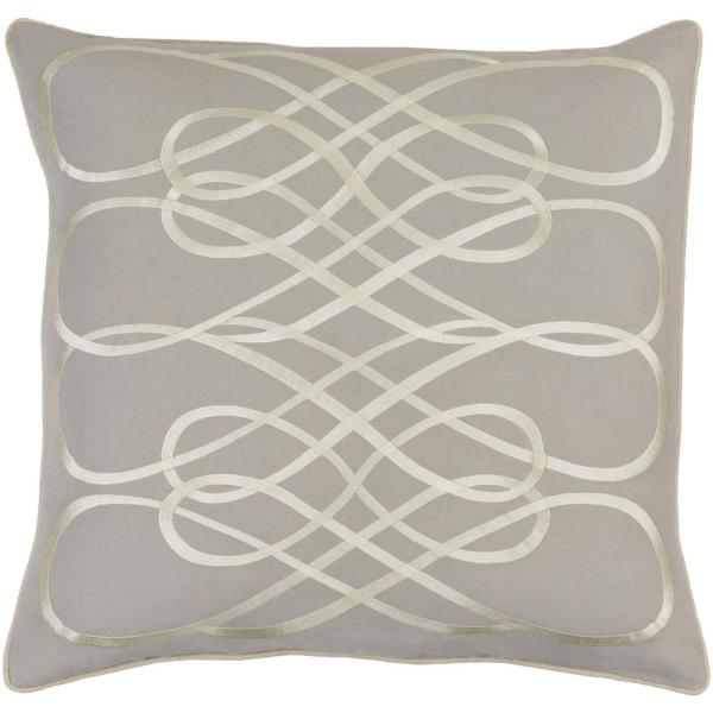 Bourdon Grey Geometric Polyester 20 in. x 20 in. Throw Pillow