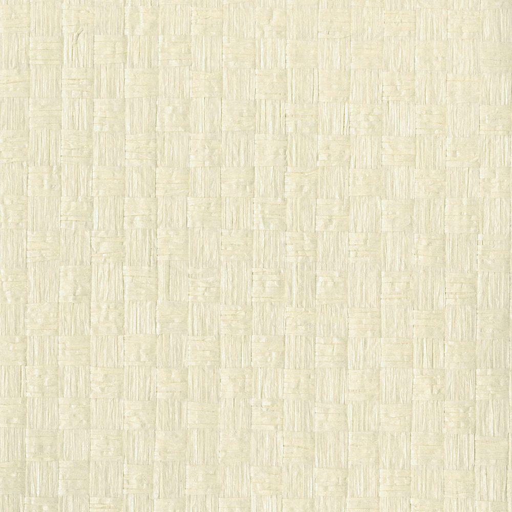 Reka Cream Paper Weave Wallpaper Sample