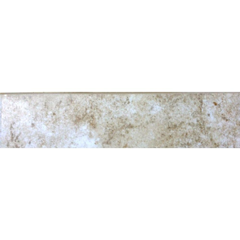 Forest Hills Crema 3 in. x 12 in. Porcelain Floor Bullnose