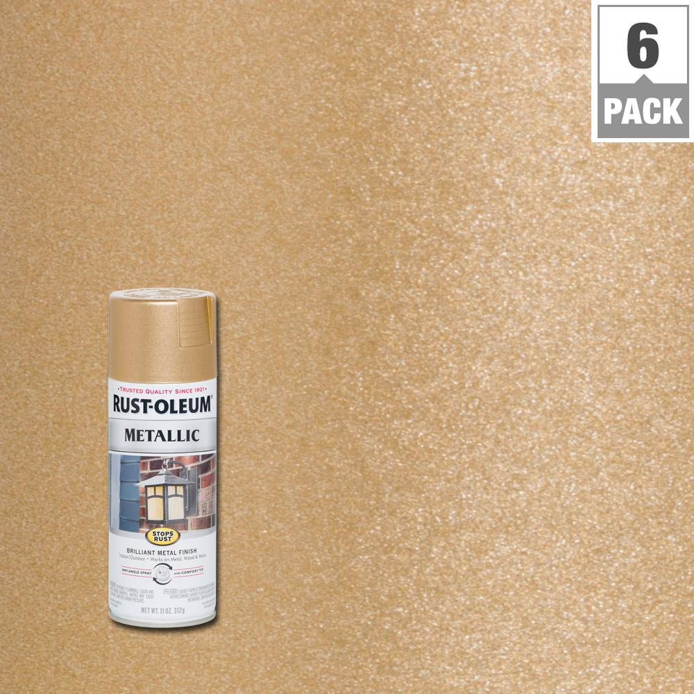 Rust-Oleum Stops Rust 11 oz. Vintage Metallic Rose Gold Protective Enamel Spray Paint (6-Pack)