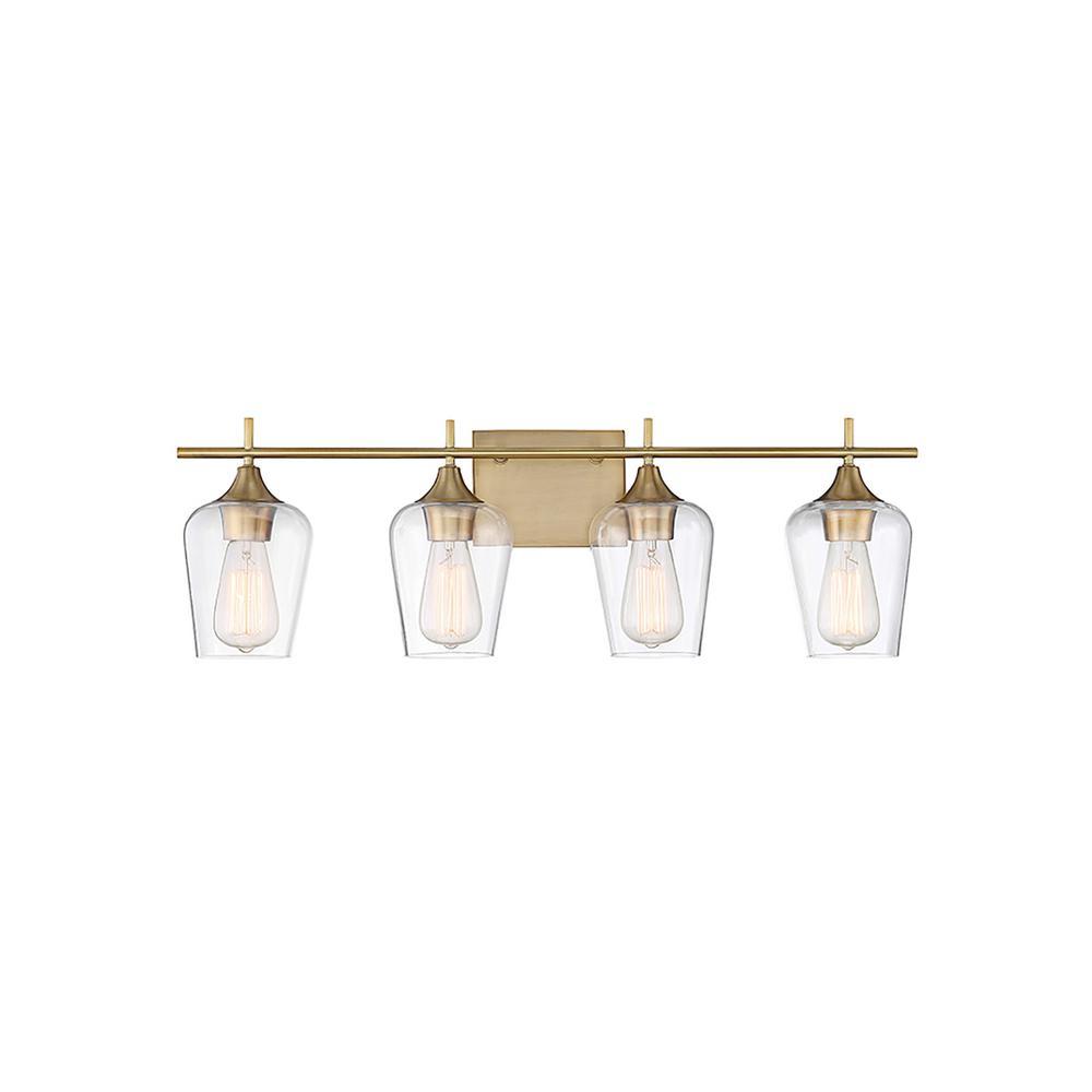4-Light Warm Brass Bath Light