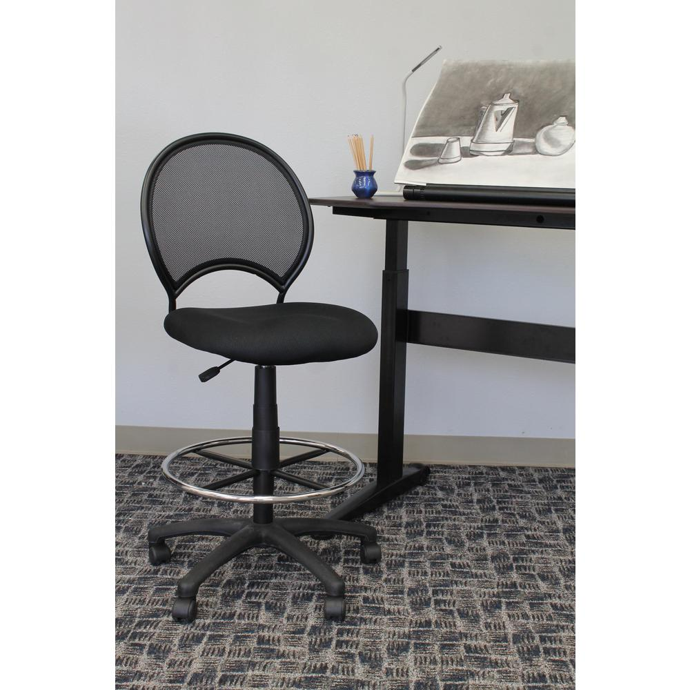 Boss Black Mesh Drafting Stool B16215 The Home Depot