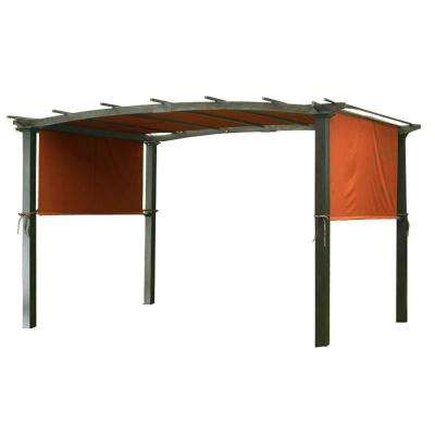 Universal Replacement Canopy Top Cover in Terracotta for Metal Pergola Frame