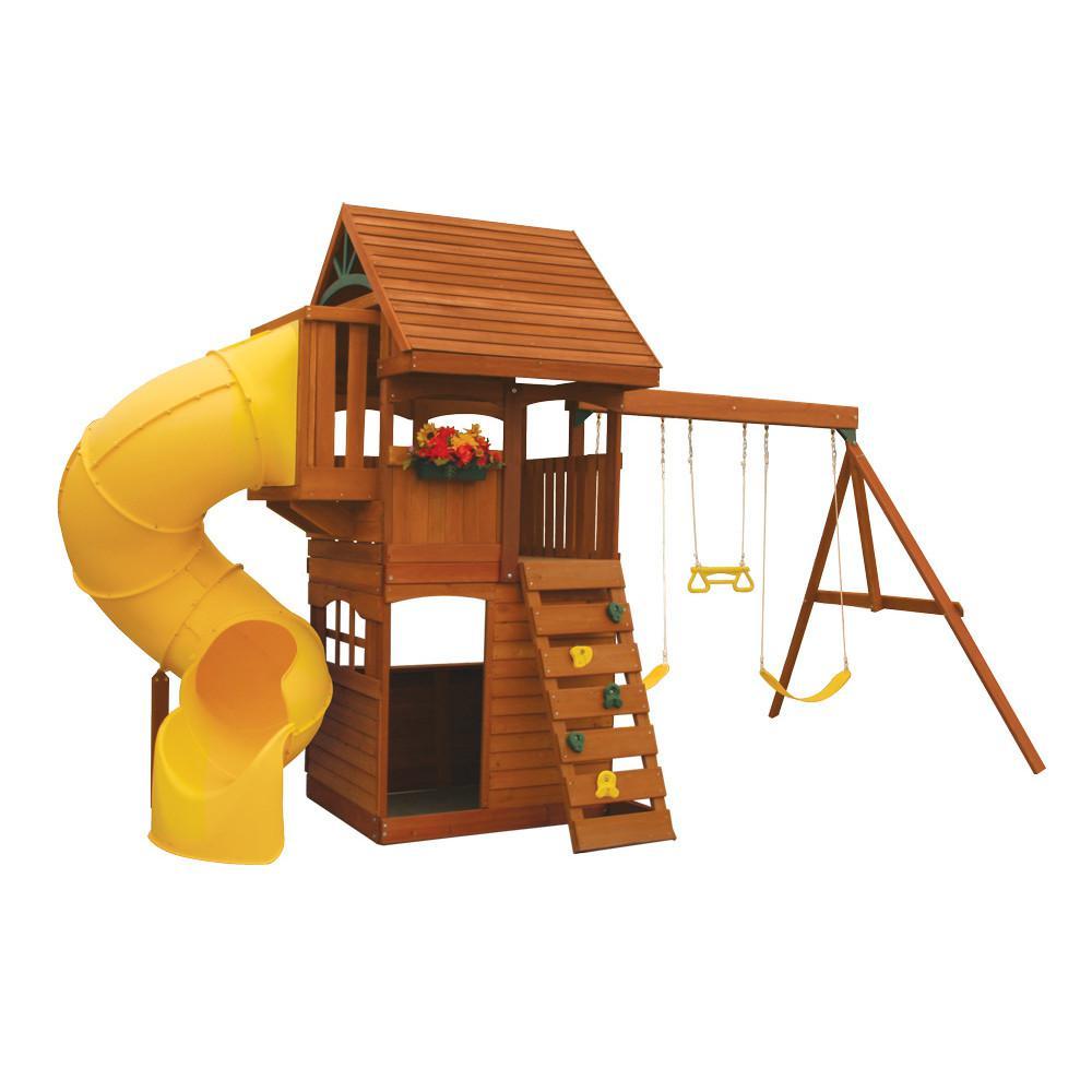 Grandview Deluxe Wooden Swing Set