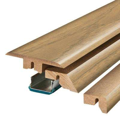 Wild Natural Walnut 3/4 in. Thick x 2-1/8 in. Wide x 78-3/4 in. Length Laminate 4-in-1 Molding