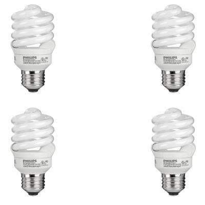 60-Watt Equivalent T2 Spiral CFL Light Bulb Daylight (6500K) (4-Pack)
