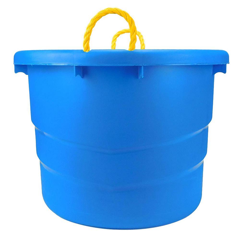 23-Gal. Plastic Utility Storage Bin in Blue (2-Pack)