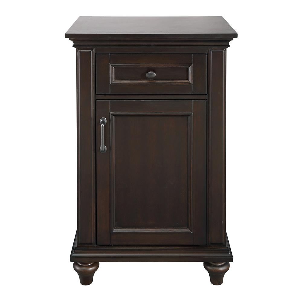 Home Decorators Collection Kenbridge 22 in. W x 36 in. H Floor Cabinet in Burnished Walnut